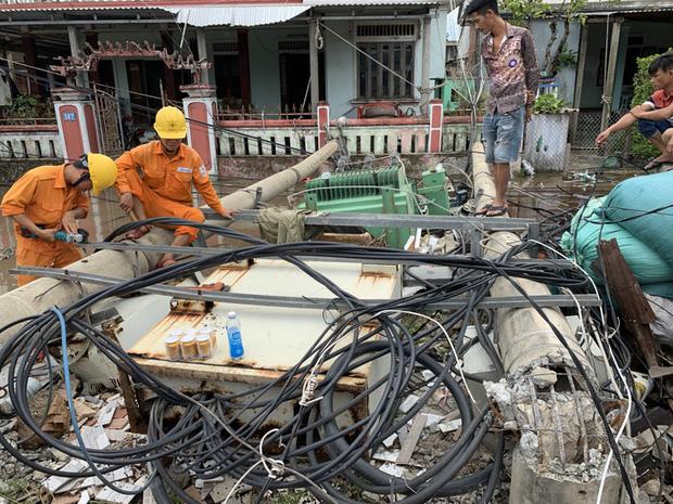 Bão số 5 sau khi đổ bộ vào các tỉnh miền Trung đã gây thiệt hại hết sức nặng nề. Ảnh: NLĐ.