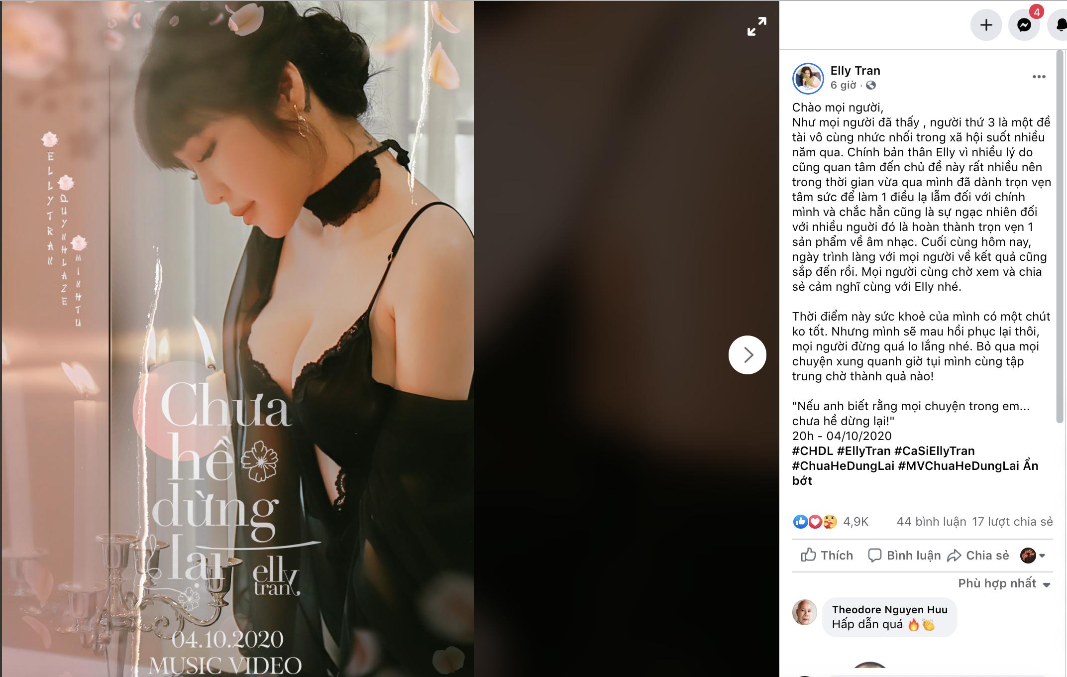 Thông báo của Elly Trần.