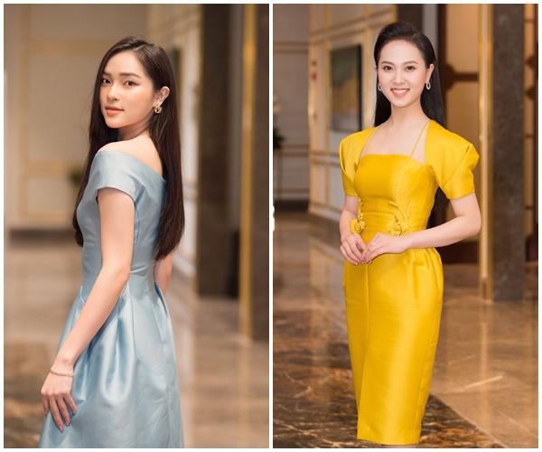 Một số thí sinh lựa chọn trang phục màu sắc nhưng vẫn rất tối giản, nhẹ nhàng.