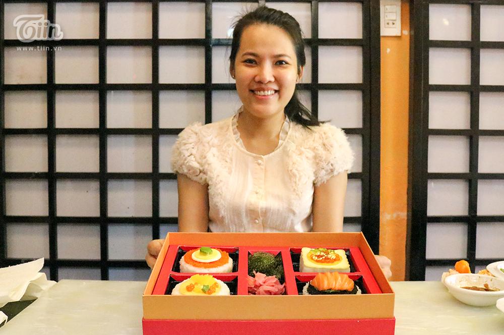 Chị Như đã ấp ủ ý tưởng tròn 1 năm để tung ra thị trường món bánh trung thu sushi này