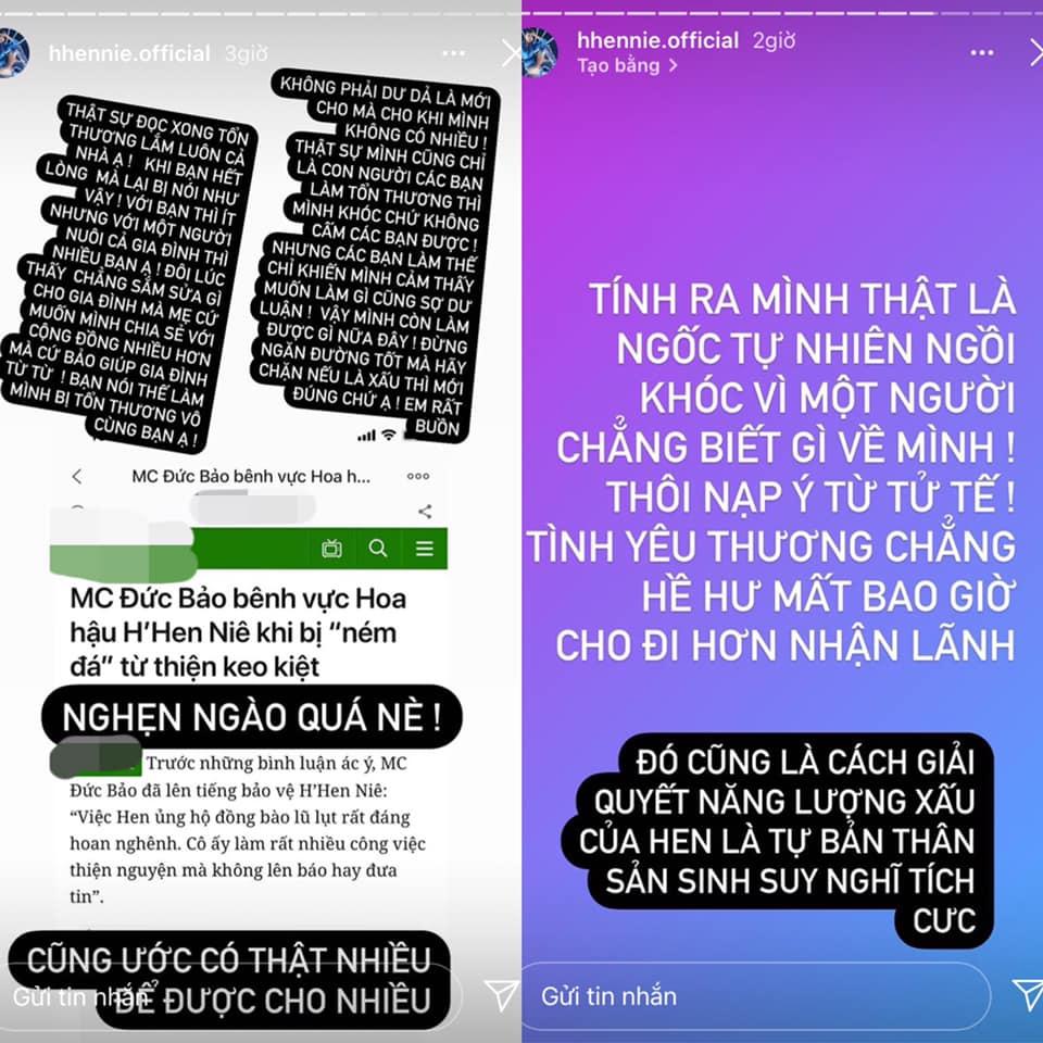 H'Hen Niê cảm thấy bị tổn thươngkhi nhận về loạt bình luận tiêu cực từ netizen