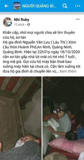 Quảng Bình: Nước dâng trong đêm, đội cứu hộ nỗ lực từng giây, nhiều nơi chưa thể tiếp cận vì nước chảy xiết 1