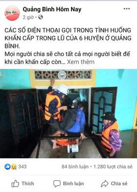 Quảng Bình: Nước dâng trong đêm, đội cứu hộ nỗ lực từng giây, nhiều nơi chưa thể tiếp cận vì nước chảy xiết 4