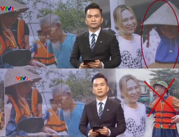 Huấn 'Hoa Hồng' cắt ghép hình ảnh gốc trong bản tin của Chuyển động 24h rồi đăng tải lên trang fanpage. Nguồn: VTV.