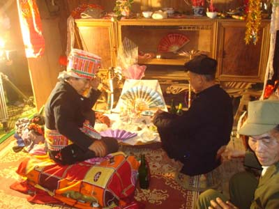Tục cúng vía là một tín ngưỡng của người dân tộc Thái- ảnh P.Thiệu.Tục cúng vía là một tín ngưỡng của người dân tộc Thái- ảnh P.Thiệu.