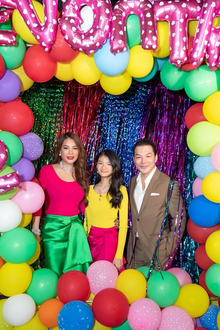 Trương Ngọc Ánh và Trần Bảo Sơn trong bữa tiệc sinh nhật con gái mới đây
