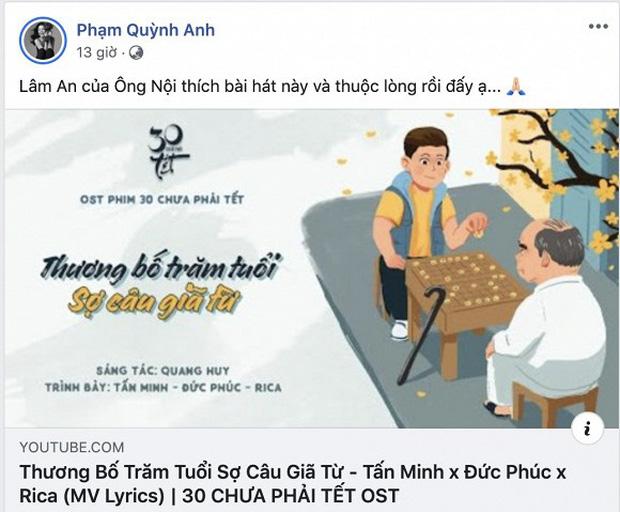 Lời nhắn gửi của Phạm Quỳnh Anh khi bố chồng cũ qua đời