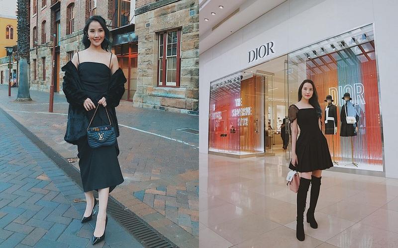 Đúng chuẩn tiểu thư đài các vô cùng tinh tế, nàng beauty blogger 25 tuổi luôn biết cách tô điểm, 'nâng tầm'vẻ thời thượng của mình nhờ những items phụ kiện túi xách xa xỉ.