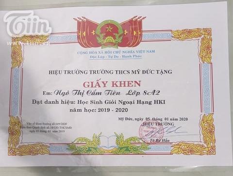 Cẩm Tiên nhiều năm liền là học sinh giỏi
