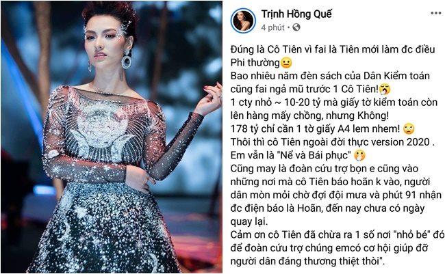 Hồng Quế cà khịa Thủy Tiên.
