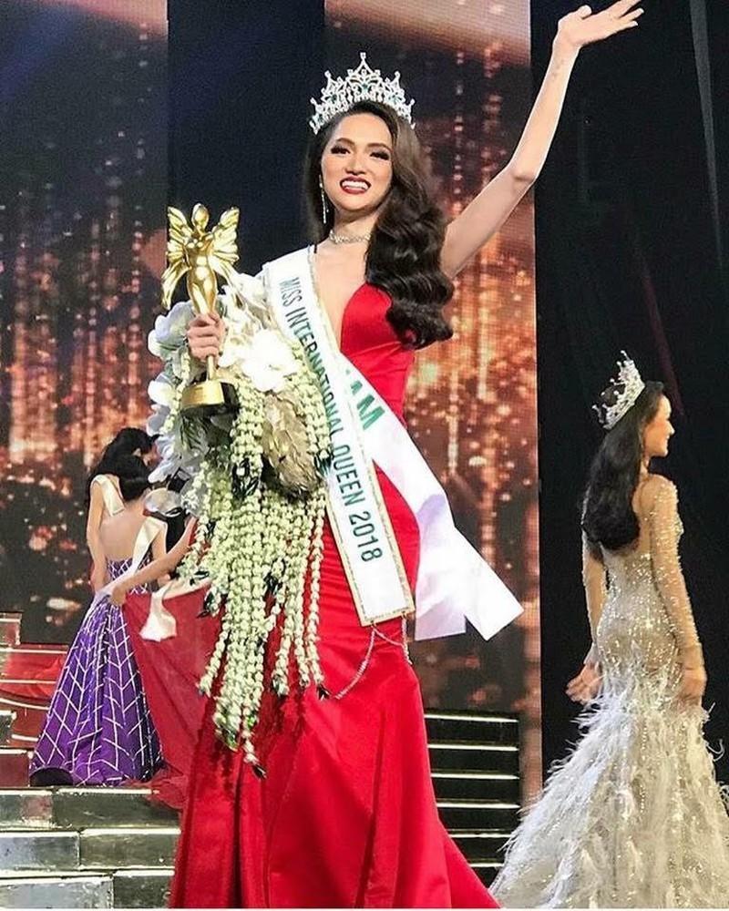 Cô đăng quang Hoa hậu chuyển giới quốc tế trong năm 2018