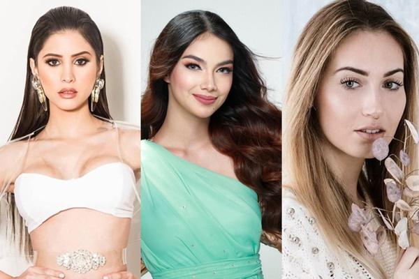 Chân dung cácÁ hậu Miss Earth 2020 gồm: Stephany Zreik, Roxanne Allison Baeyens và Michala Rubinstein (Từ trái sang phải).