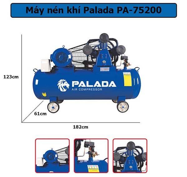 Máy nén không khí 3 piston Palada PA-75200