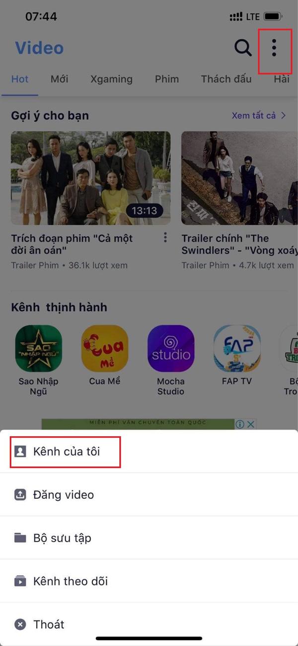 Hướng dẫn cách up video kiếm tiền trên Mocha 4