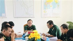 Kiểm tra toàn diện Đồn Biên phòng cửa khẩu Vĩnh Hội Đông