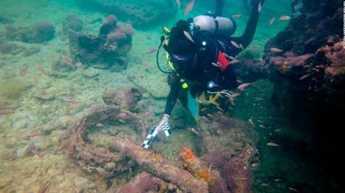 Lần đầu phát hiện xác tàu chở nô lệ Maya