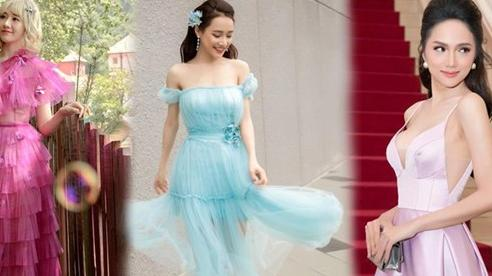 Hari Won, Nhã Phương khiến fans quên tuổi thật, Hương Giang quyến rũ hơn nhờ màu pastel thần thánh