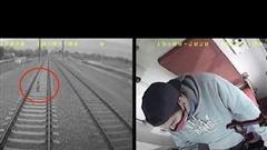 Chơi một mình trên đường ray tàu hỏa, cậu bé may mắn thoát chết