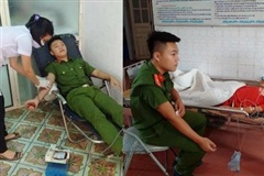 Thiếu úy Công an vùng biên hiến máu cứu cháu bé chăn bò bị vỡ gan