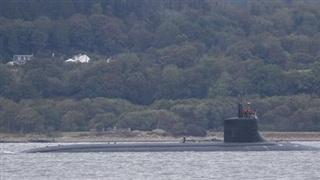 Tàu ngầm tấn công Seawolf của Mỹ lại xuất hiện trên sông Clyde của Scotland