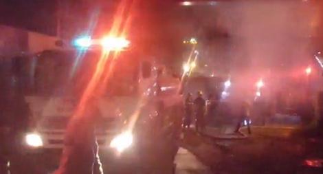 Kịp thời dập tắt đám cháy tại khu nhà Ban quản lý dự án chung cư Osaka