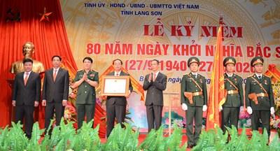Kỷ niệm 80 năm ngày Khởi nghĩa Bắc Sơn và đón nhận Huân chương Độc lập hạng Nhì