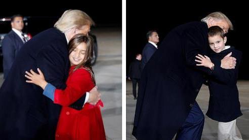 Hai nhóc tì được Tổng thống Trump âu yếm gây chú ý, chiếm trọn 'spotlight' tại sự kiện lớn