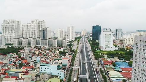 Cận cảnh cầu cạn 5.300 tỷ đồng ở Hà Nội, có làn thiết kế tốc độ lên đến 100km/h trước ngày thông xe