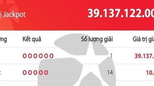 Một người trúng Vietlott giải độc đắc gần 40 tỷ đồng