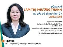 Thông tin tiểu sử Bí thư Tỉnh ủy Lạng Sơn Lâm Thị Phương Thanh