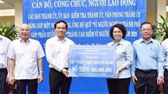 TP.HCM: Trên 500 triệu đồng ủng hộ Quỹ 'Vì người nghèo'