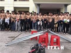 Đồng Nai: Bắt 59 đối tượng của 2 băng nhóm chuẩn bị 'hỗn chiến'