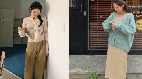 Công thức mix áo cardigan chuẩn như gái Hàn
