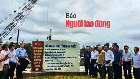 Chính thức vận hành cống ngăn mặn, giữ ngọt lớn nhất Việt Nam