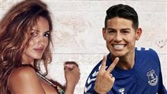 Bạn gái cổ vũ James Rodriguez sút tung lưới Liverpool