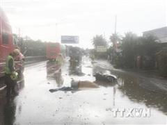Tiền Giang: Tai nạn giao thông trên Quốc lộ 1 làm 2 người tử vong