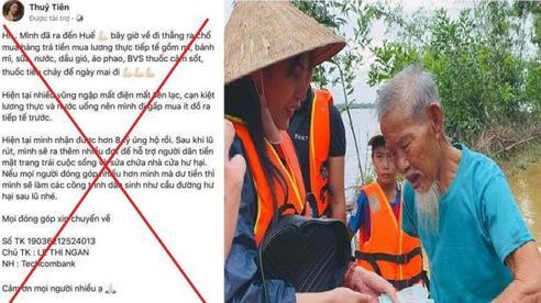 Xuất hiện Fanpage Facebook mạo danh ca sĩ Thủy Tiên để lừa tiền cứu trợ vùng lũ