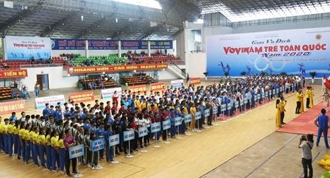 Gần 800 VĐV tham dự Giải vô địch trẻ Vovinam toàn quốc 2020