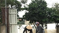 Nghệ An: Nước sông Lam dâng cao, gần 300 hộ dân bị cô lập