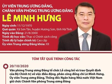 [Infographics] Ủy viên TW Đảng, Chánh văn phòng TW Đảng Lê Minh Hưng