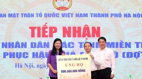 Tiếp nhận hỗ trợ ủng hộ các tỉnh miền Trung khắc phục hậu quả lũ lụt