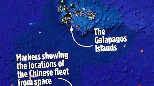 Hàng trăm tàu cá Trung Quốc 'quần thảo' vùng biển quanh quần đảo Galapagos