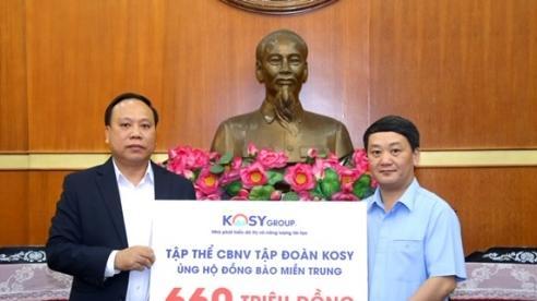CBNV Tập đoàn Kosy ủng hộ 660 triệu đồng giúp miền Trung vượt bão lũ