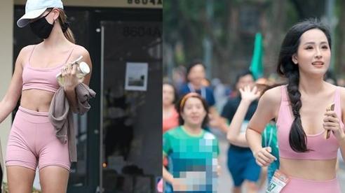 Mai Phương Thúy & vợ Justin Bieber đều mắc lỗi thời trang với đồ tập màu hồng