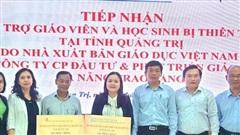 NXB Giáo dục hỗ trợ sách giáo khoa cho học sinh vùng lũ