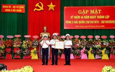 Vùng 5 Hải quân gặp mặt kỷ niệm 45 năm ngày thành lập