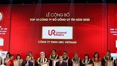 URC Việt Nam trong top 10 công ty đồ uống uy tín nhất năm 2020