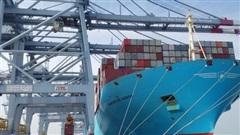 'Siêu tàu' container lớn nhất thế giới cập cảng quốc tế Cái Mép