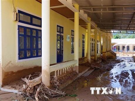 14 trường học tại Quảng Trị còn ngổn ngang sau mưa lũ