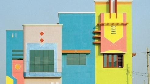 Chiêm ngưỡng loạt nhà 7 sắc cầu vồng khác lạ ở Ấn Độ